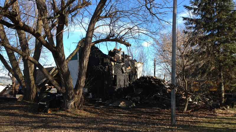 This home on Mitch Owens Drive in southeast Ottawa burned down in the early hours of Thursday, Nov. 8, 2012.