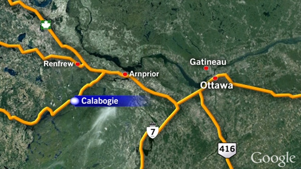 Ontario Provincial Police investigate the discovery of human remains near Calabogie. The discovery was made Sunday, Nov. 11, 2012.