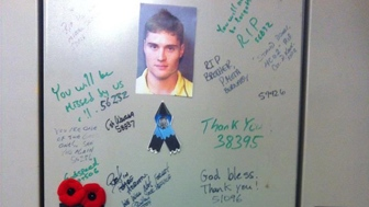 Adrian Oliver's locker in Surrey, B.C. (courtesy Facebook)
