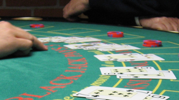casino gambling blackjack table