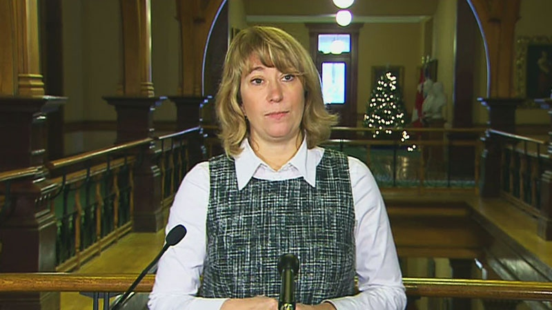Ontario Education Minister Laurel Broten discusses the status of OSSTF agreements on Monday, Dec. 3, 2012
