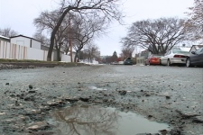 Hundreds of new potholes caused by flash freeze