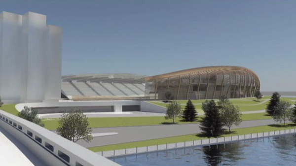 An artist's rendition of the redeveloped stadium at Lansdowne Park.
