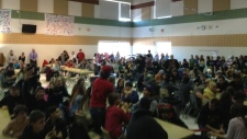Hundreds of students protest in Smiths Falls