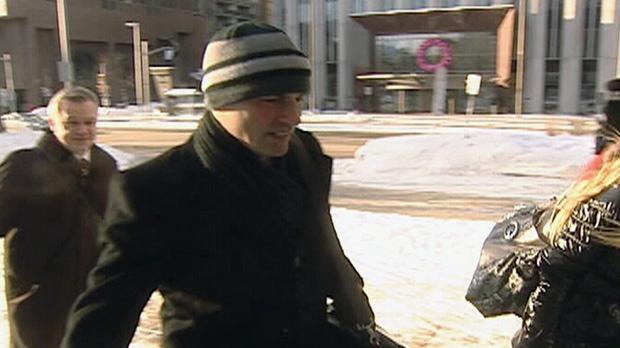 Sgt. Steven Desjourdy arrives at court