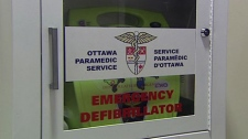A public defibrillator was used to help save a man who went into cardiac arrest at a Goodlife Fitness Centre in Ottawa, Monday, Dec. 13, 2010.