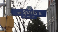 Sparks Street sign