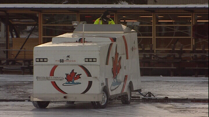 Rideau Canal crews resurface ice in preparation for the opening of 43rd skating season.
