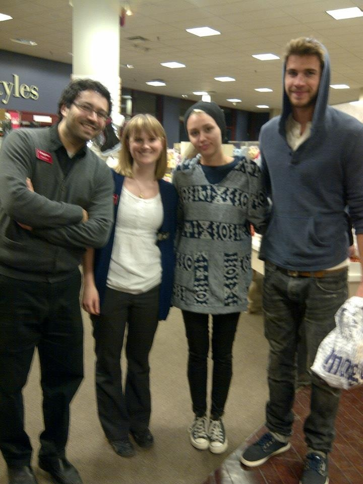 Miley Cyrus & Liam Hemsworth at Chapters on Rideau St. in Ottawa on Tuesday, Jan. 22, 2013.  (Photo Courtesy of Chapters)