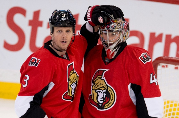 Ottawa Senators defenseman Marc Methot