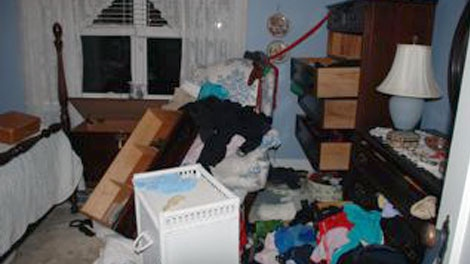 This home in central Ottawa was left ransacked after a break and enter this past week. Viewer photo.