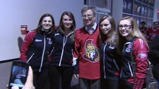 Canada's Curling champions honoured by the Sens