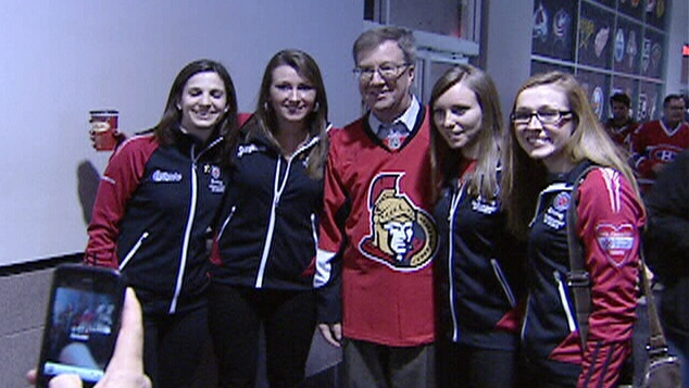 Team Homan with Mayor Jim Watson at Scotiabank Place