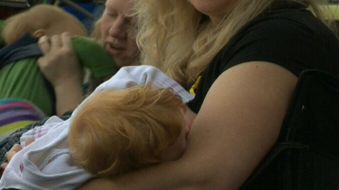 Experts say babies should be exclusively breastfed for 6 months.
