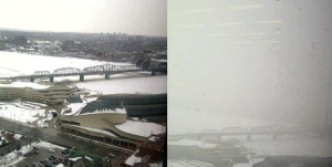 """Before"" and ""after"" storm pics sent in to us from a federal worker in Gatineau on Wednesday, Feb. 27, 2013."