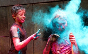 Click through these stunning images from Holi, the Hindu festival of colours, which marks the advent of spring. Children and adults are celebrating across India by throwing water balloons and coloured powder at each other. 