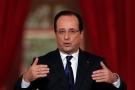 French President Francois Hollande answers questions during a press conference at the Elysee Palace in Paris, Thursday, May 16, 2013. (AP Photo/Christophe Ena)