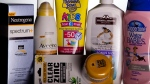 Various sunscreen products are seen in Washington, Wednesday, May 26, 2010. (AP / Evan Vucci)