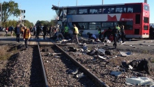 Train crash Ottawa photos bus