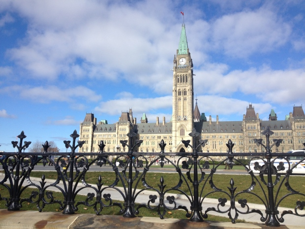 Parliament Hill is seen in Ottawa on Tuesday, Oct. 29, 2013. (Nicole Green / CTV News)