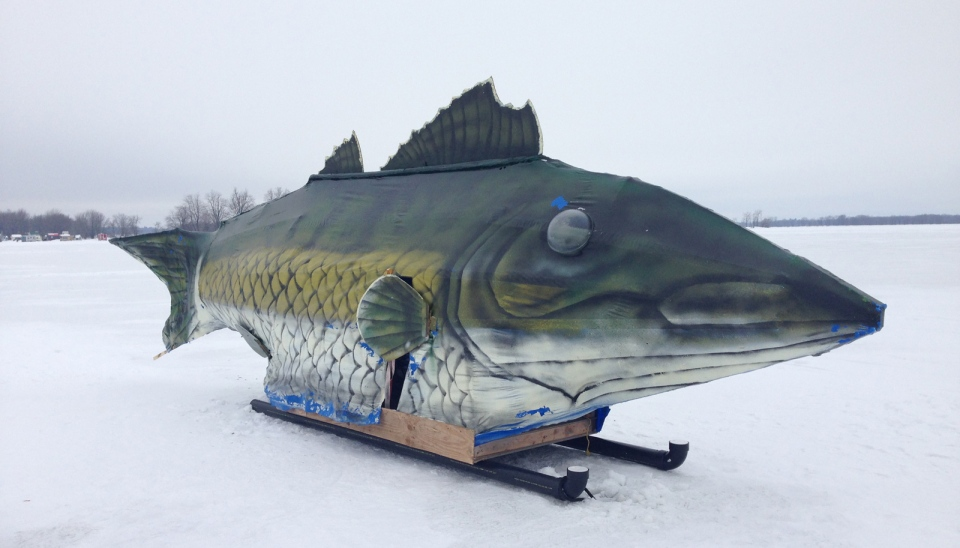 22 foot walleye catches plenty of attention ctv ottawa news for Fish house skis