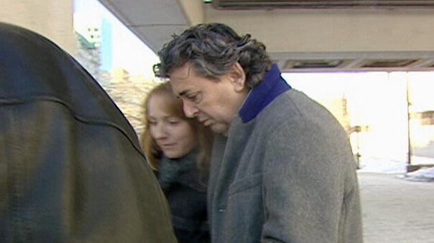 Father Joe LeClair leaves the Ottawa courthouse.