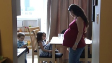 Nancy Salgueiro is due to give birth to her third child on October 7, 2011.