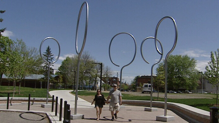 Originally designed as badminton rackets, these fixtures are now open to plenty of interpretation at Ottawa's Jack Purcell Park