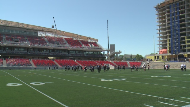 Extended: TD Place taken shape