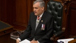 Ontario's Lt.-Gov. David Onley delivers the Throne Speech at Queens Park in Toronto on Thursday, July 3, 2014. (Chris Young / THE CANADIAN PRESS)