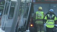 OC Transpo buses trapped behind the crash scene fell behind schedule upwards of half an hour.
