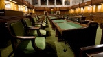 The House of Commons sits empty ahead the resumption of the session on Parliament Hill in Ottawa, Friday, Sept. 12, 2014. (Adrian Wyld / THE CANADIAN PRESS)