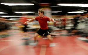 Ottawa Senators' Kyle Turris takes part in testing during the opening day of training camp in Ottawa on Thursday, Sept. 18, 2014.  (Sean Kilpatrick/THE CANADIAN PRESS)