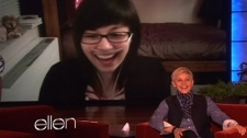 Ottawa's Helene Campbell talks to Ellen DeGeneres on a show that aired Thursday, Feb. 16, 2012.