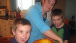 Erin Vance celebrates Halloween with her sons. She died after being struck by a car on March 18, 2012.