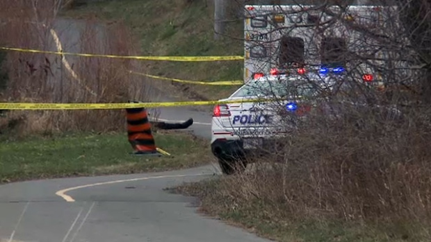 Ottawa Police Major Crime Detectives are investigating after the body of a man in his 50's was discovered early Thursday, Nov. 27, 2014. (Jim O'Grady/CTV Ottawa)