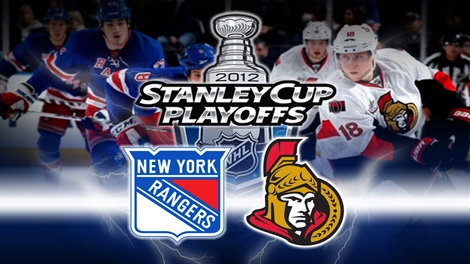 The Ottawa Senators will face off against the New York Rangers in first round playoff action Thursday April 12, 2012.