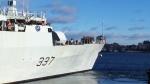 The HMCS Fredericton departs Halifax Tuesday, Dec. 30, 2014.