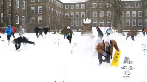 Unsuspecting snowmen crushed by Dalhousie students
