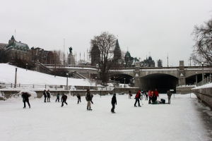 The end of the line at the Wellington st. bridge over the Rideau Canal Skateway in downtown Ottawa. (Don Woods/CTV Viewer)