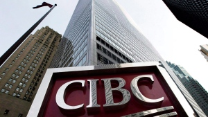 A CIBC sign in Toronto's financial district on February 26, 2009. (The Canadian Press / Nathan Denette)