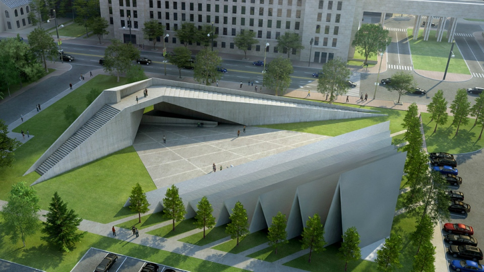 Artist's rendering of the Memorial to the Victims of Communism to be built near the Supreme Court of Canada. (ABSTRAKT Studio Architecture)