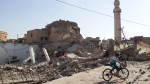 The destroyed old Mosque of The Prophet Jirjis in central Mosul, Iraq, on July 27, 2014. (AP)
