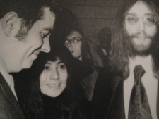 Max Keeping, Yoko One and John Lennon in 1968.