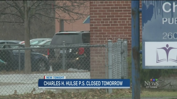 Charles H. Hulse school remains closed on Tuesday after a pesticide used inside the building sent over 30 students home sick (CTV Ottawa)