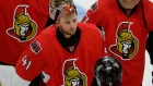 Ottawa Senators' goaltender Craig Anderson (41) leaves the ice at the end of the third period of an NHL Stanley Cup playoff hockey game against the Montreal Canadiens, Sunday April 26, 2015, in Ottawa. THE CANADIAN PRESS/Justin Tang