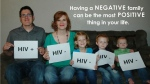 Andrew Pulsipher sits with his wife and three children showing that even though Pulsipher has HIV, the others do not. The photo has been shared more than 13,000 times as of May 10. (Andrew Pulsipher / Facebook)