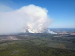 The Little Bobtail Lake wildfire, southwest of Prince George, B.C., is shown on Wednesday, May 20, 2015. (British Columbia Wildfire Management Branch / The Canadian Press)