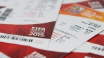 Tickets for the upcoming FIFA Women's World Cup to be played in Canada are shown Tuesday, May 19, 2015. (THE CANADIAN PRESS / Graeme Roy)