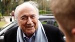 Sepp Blatter in Belfast, Northern Ireland, on Feb. 27, 2015. (AP / Peter Morrison)
